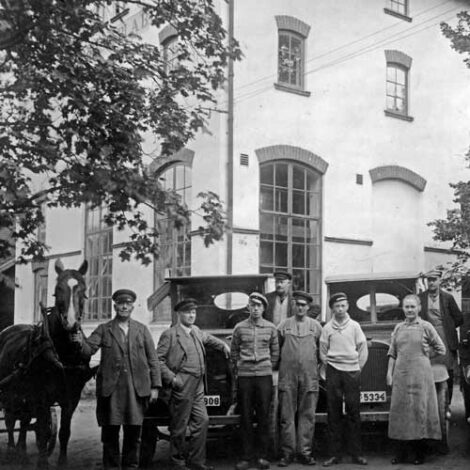 Arbetare i Kvarteret Bryggeriet
