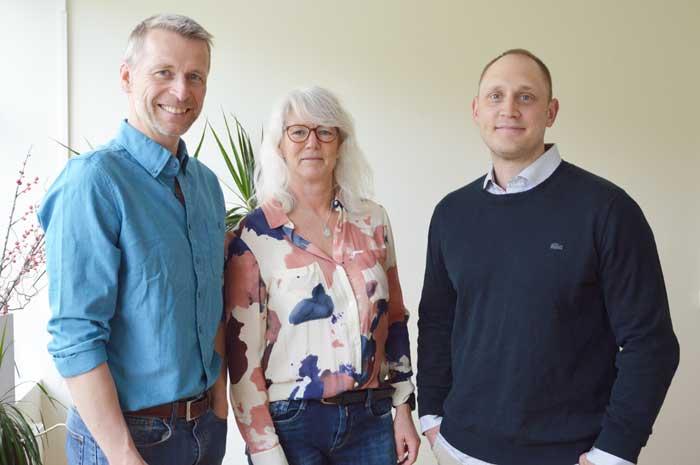Urban, Petra och Kristian på Contactvis